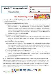 English Worksheet: test - advertising