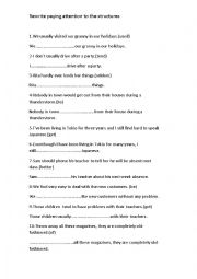 English Worksheet: practise FCE transformations