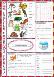 English Worksheet: Pets Vocabulary Exercises