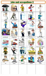 English worksheet: JOBS AND OCCUPATIONS 2