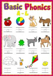 English Worksheet: Basic phonics A-L