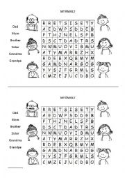 basic family wordsearch