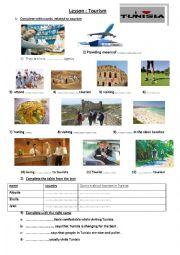 English Worksheet: TOURISM
