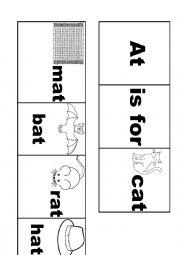 English Worksheet: -at word families