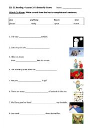 English Worksheet: Learning Words from Context Clues