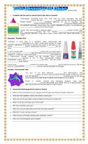 English Worksheet: The History of Glue