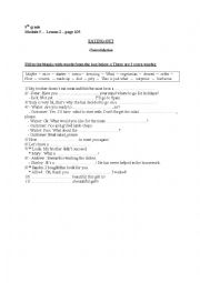English Worksheet: EATING OUT - Module 5, Lesson 2, 9th gr.( Consolidation)