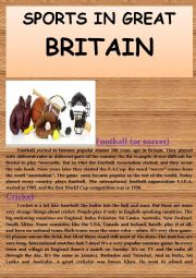 English Worksheet: Sports in Great Britain