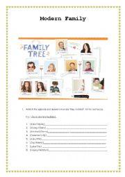 English Worksheet: Modern Family