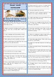 English Worksheet: TEENS�WORLD- REPHRASING