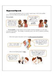 Reported Speech / Study Worksheet