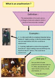 English worksheets: What is an anachronism?