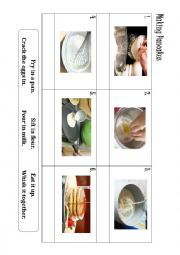 English Worksheet: Making pancakes