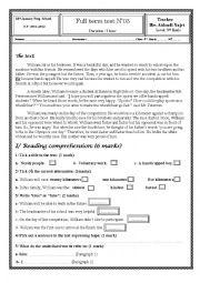English Worksheet: full-term-test03*9eme
