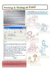 English Worksheet: Reading and Writing an E-mail