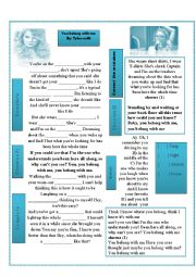 English Worksheet: SONG! - You belong with me By: Taylor Swift