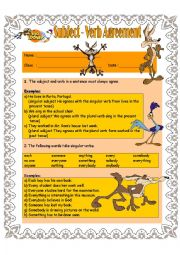 Subject-Verb Agreement For Intermediate