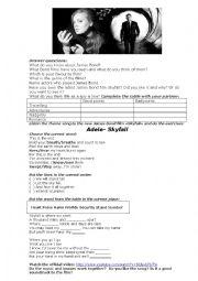 English Worksheet: Adele-skyfall