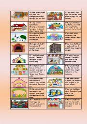 English Worksheet: Third Conditional + City vocabulary domino