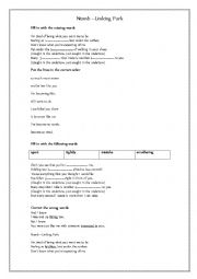 English Worksheet: Numb Linking Park