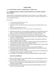 English Worksheet: Dunkirk - Complex or Simple Sentences