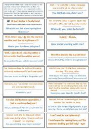 English Worksheet: Loop text (warmer)