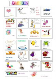 English Worksheet: Reward stickers 2