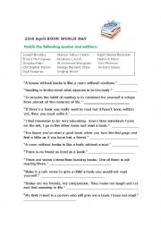 World Book Day 23rd April