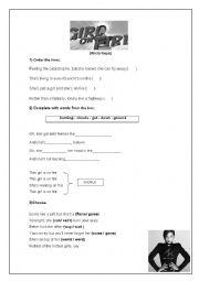 English Worksheet: Alicia Keys - girl on fire