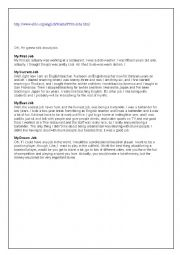 English Worksheet: listening about dream job mid term test 3 for 2nd year tunisian pupils