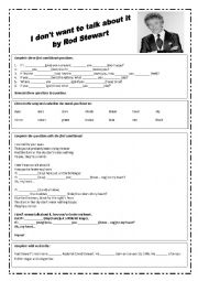 English Worksheet: I don�t want to talk about it