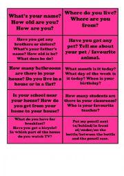 English Worksheet: TRINITY QUESTIONS GRADE 2