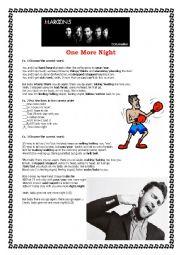English Worksheet: One More Night - Maroon 5