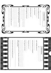 English Worksheet: Film and Book review