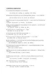 English Worksheet: sentence completion