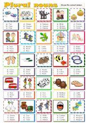 English Worksheet: Plural nouns