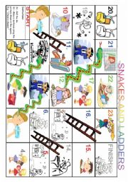 English Worksheet: simple presente, everyday activities game