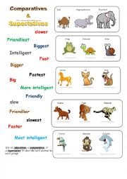 comparatives & superlatives -useful-