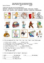 English Worksheet: 5th Grade Second Term Second Exam PART-1