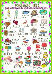 English Worksheet: Food and drinks 2