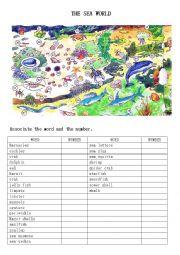 English Worksheet: The sea world