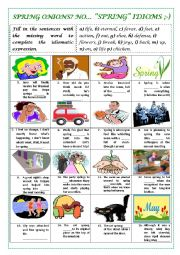 English Worksheet: SPRING IDIOMS (with key)
