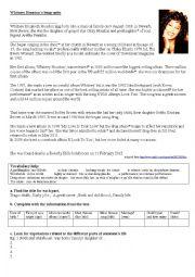 English Worksheet: Whitney Houston