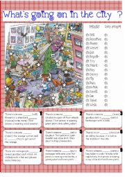 English Worksheets: What`s going on in the city ?