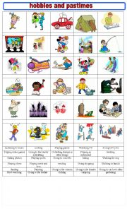 English Worksheet: HOBBIES AND PASTIMES