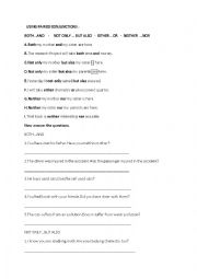 English Worksheet: both...and-not only...but also-either...or -neither...nor