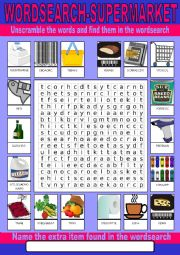 Supermarket Wordsearch