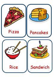 English Worksheet: Food Flashcards