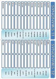 English Worksheet: ANTONYMS 11-12