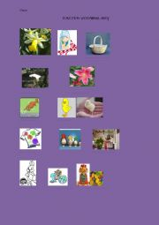 English Worksheet: Easter Vocabulary - work with pictures